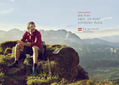 Büro an der Wien, badw, Österreich Werbung, ÖW, Kampagne, Alpines Lebensgefühl, Kampagnen-Sujet, Shooting