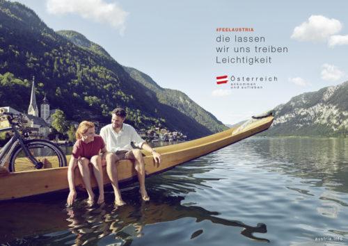 Büro an der Wien, badw, Österreich Werbung, ÖW, Kampagne, Rad-Entdeckungsreise, Kampagnen-Sujet, Shooting