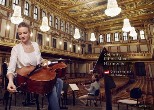 Büro an der Wien, badw, Österreich Werbung, ÖW, Kampagne, Weltbühne Musik, Kampagnen-Sujet, Shooting