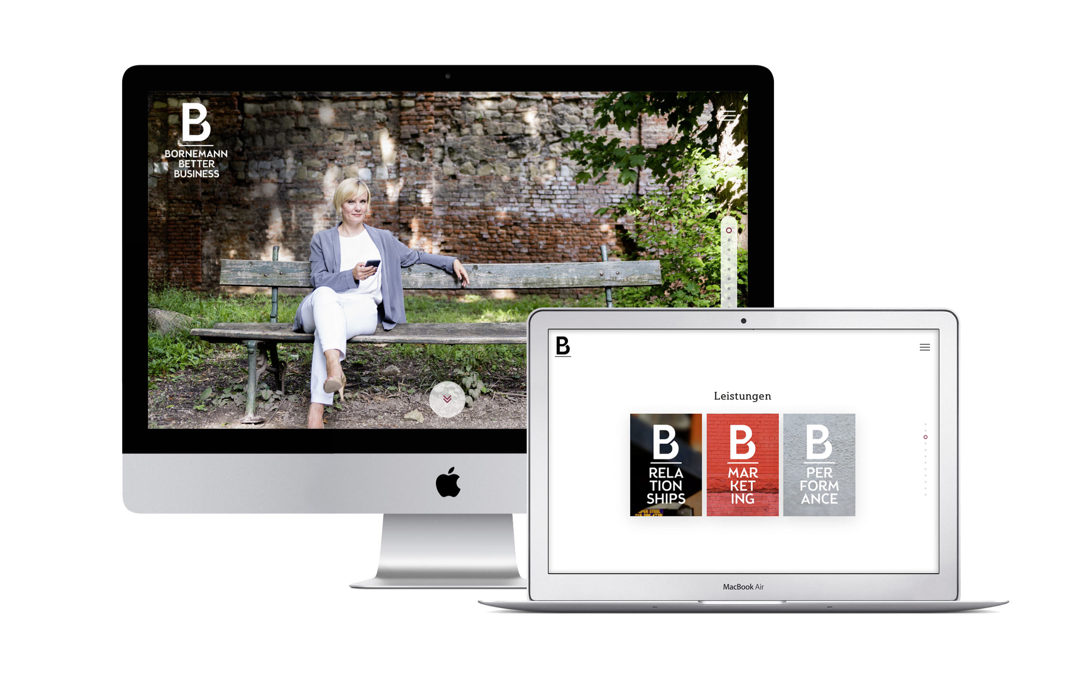 BBB HOMEPAGE auf Apple Screes