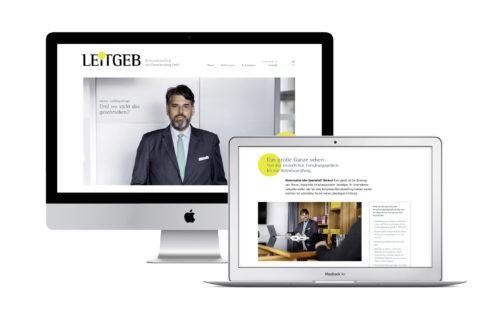 Büro an der Wien, badw, Leitgeb Steuerberatung und Wirtschaftsprüfung, Corporate Design, Brand Identity
